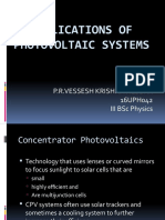 Applications of Photovoltaic Systems