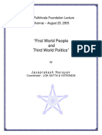 First World People and Third World Politics - Aug2005