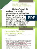Deontología Del Psicólogo - Ética Profesional Del Psicólogo