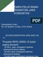 Manajemen Yan Kep Jiwa Komunitas