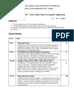 17BBA107 Basics of Computer Application