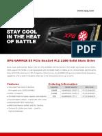 Datasheet Xpg Gammix s5 en 20181026