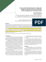 EVALUACIÓN DE ESCORIA DE ACERÍA DE HORNO ELÉCTRICO PARA SU EMPLEO COMO MATERIAL DE CONSTRUCCIÓN