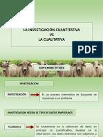 INVESTIGACION CUANTITATIVA VS INVESTIGACION CUALITATIVA