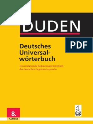 Duden Deutsches Universalworterbuch Pdf