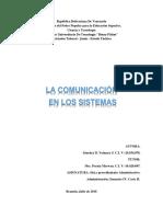 comunicación en los sistemas