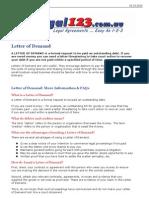 Letter of Demand - Legal123.com.au