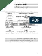 Planificacion x9559 2019