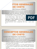 2. Conceptos Generales de Costo