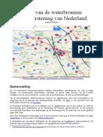De rol van de waterbronnen bij de kerstening van Nederland
