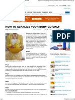 How to Alkalize your Body Quickly