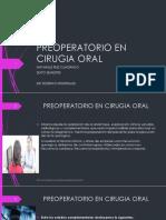 Preoperatorio en Cirugia Oral