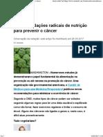 6 Recomendações Radicais de Nutrição Para Prevenir o Câncer