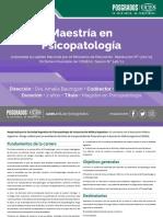 Maestria en Psicopatologia 22-01-19