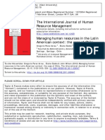 Managing Human Resources in the Latin American Context