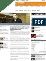 Entrevista a Fernando Zaplana en La Opinion de Murcia