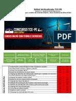 Edital Verticalizado TCE PE Auditor de Controle Externo Auditoria de Obras Públicas
