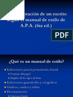 APA 6ta Ed Documentacion de Un Escrito