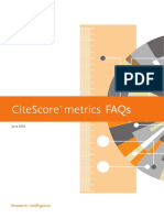 CiteScore Metrics FAQs