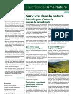 DameNature 15 Novembre 2018 Survivre Dans La Nature SD