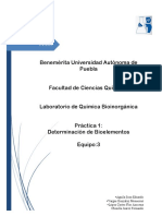 Práctica 1 Determinación de bioelementos Bioinorgánica