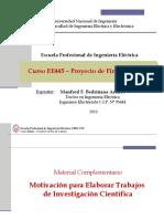 EE445 - Clase 1T1 - Motivación para Elaborar Trabajos de Investigación 2019-I