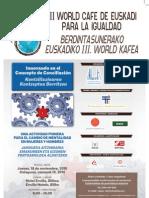 III World Cafe Igualdad Cartel Bizkaia
