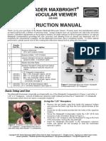 Maxbright Binoviewer Instructions