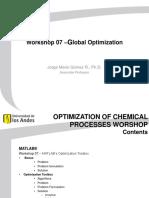 Workshop 07 - Global Optimization