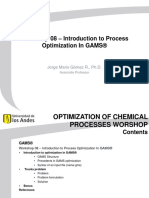 Workshop 08 - Introduction to Process Optimization in GAMS