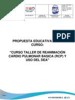 Propuesta Educativa Curso Taller RCP Y DEA 2019