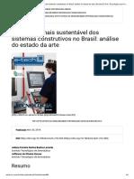 Uma Visão Mais Sustentável Dos Sistemas Construtivos No Brasil_ Análise Do Estado Da Arte _ Revista E-Tech_ Tecnologias Para Competitividade Industrial - IsSN - 1983-1838