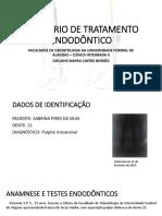 Relatório de Tratamento Endodôntico