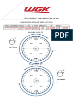 Dados Técnicos Comando WGK Linha Bravo Honda CBX  XR NX CRF 200 230