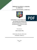 Monitoreo y caracterización del transporte de sedimentos durante crecida o eventos extremos de el niño en el rio tumbes.pdf