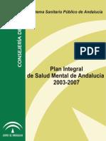 Plan Integral Salud Mental 2003-07