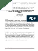 TCC Adequação Iso 9001 Metalmecanica