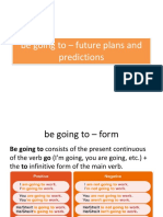 Be Going to – Future Plans and Predictions