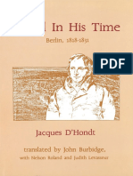 D'Hondt, Jacques - Hegel in His Time