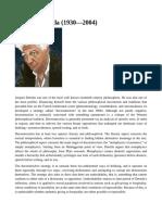 Jacques Derrida - IEP
