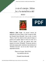 Fuego en el cuerpo. Julius Evola y la metafísica del sexo | Biblioteca Evoliana