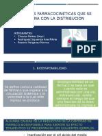 PARAMETROS FARMACOCINETICAS QUE SE RELACIONA CON LA DISTRIBUCION.pptx