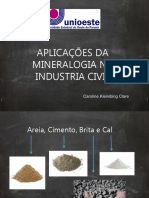 Aplicações Da Mineralogia Na Industria Civil