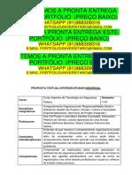 Trabalho Sergurança Publica 1 Semestre - Temos a Pronta Entrega Whatsapp 91988309316