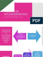 Proceso de Aplicacion de Los Test