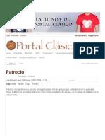 Patroclo _ Portal Clásico