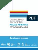 Condiciones Técnicas Aguas Abiertas 2018