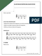 Exercícios Para Leitura de Notas Na Clave de Sol