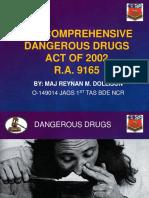 Seminar on Drugs RA9165