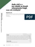 LEEDS, E. - A Sociedade Civil e a Segurança Cidadão No Brasil